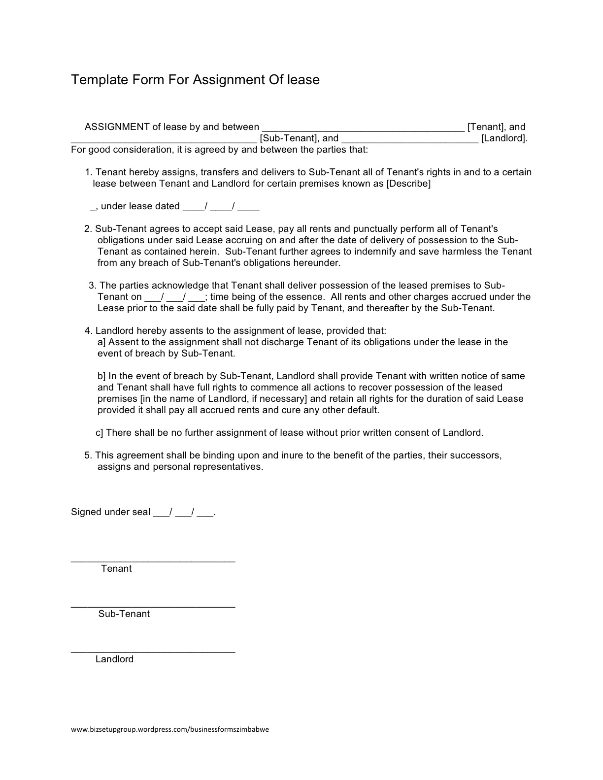 Assignment Of Rights Form Erkalnathandedecker